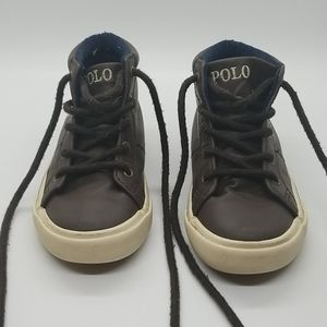 💑 4 for $20 Polo Boys Brown High Top Sneakers